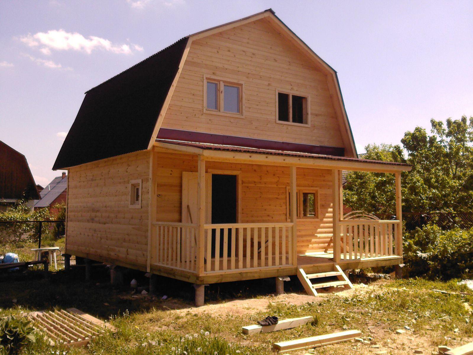 Строим дачный дом из бруса своими руками проекты